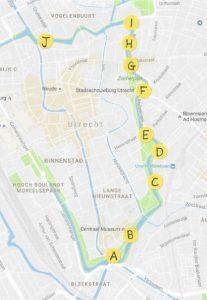 overzichtskaart locaties Vergroening Singel