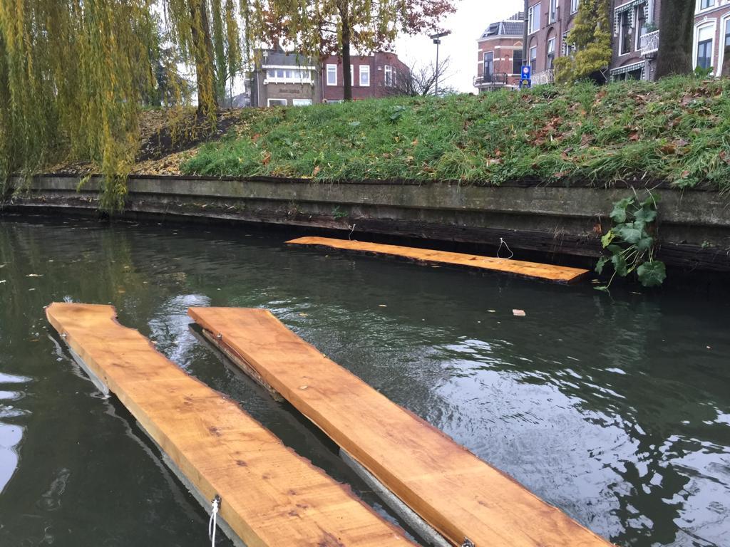 SUPfup net afgeleverd bij Noorderbrug, dec 2018
